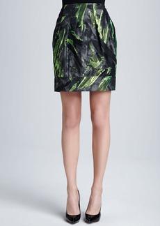 Lafayette 148 New York Alaina Pleated Jacquard Skirt