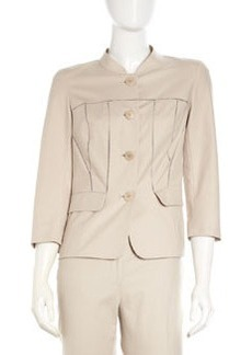 Lafayette 148 New York Vickie Open-Stitch Jacket