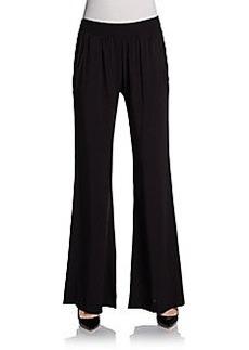 Saks Fifth Avenue BLUE Wide-Leg Draped Pants