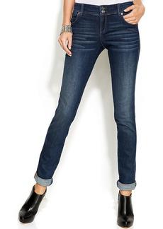 INC International Concepts Petite Straight-Leg Jeans, Stormy Wash