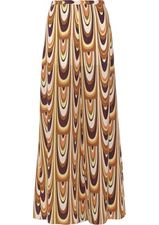 M Missoni Printed silk-crepe pants