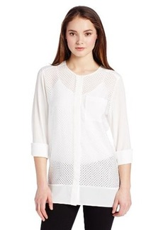 Calvin Klein Women's Perforated Tunic Top