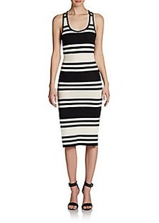 French Connection Jag Striped Racerback Dress