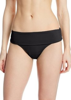 Jones New York Women's Basic Foldover Brief Bikini Bottom