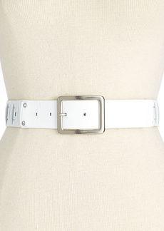 Calvin Klein Tumbled Woven Panel Nickel Belt