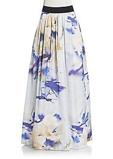 ABS Abstract-Print Maxi Skirt