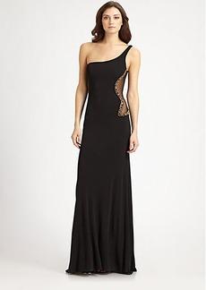 ABS Asymmetrical Gown