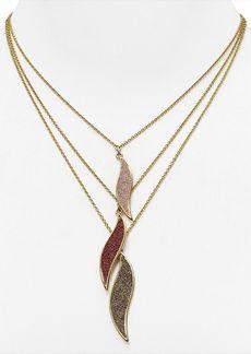 "ABS by Allen Schwartz 3 Row Pendant Necklace, 16"""