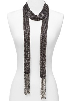 "ABS by Allen Schwartz Beaded Wrap Necklace, 70"""