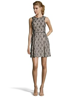A.B.S. by Allen Schwartz black and ivory lace fit and flare dress