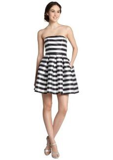 A.B.S. by Allen Schwartz black and white strapless striped dress