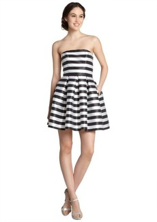 A.B.S. by Allen Schwartz black and white strapless striped dress