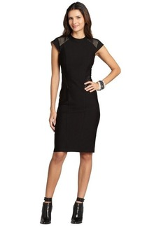 A.B.S. by Allen Schwartz black cap sleeve 'Illusion' dress