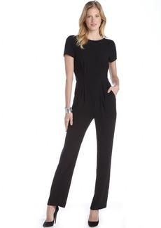 A.B.S. by Allen Schwartz black short sleeve v-back pants jumpsuit