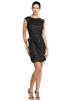 A.B.S. by Allen Schwartz black sleeveless sequin bow dress