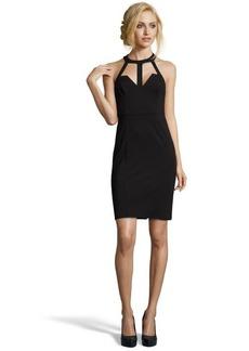 A.B.S. by Allen Schwartz black stretch jersey cutout halter dress