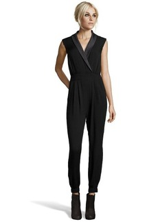 A.B.S. by Allen Schwartz black stretch jersey v-neck sleeveless jumpsuit