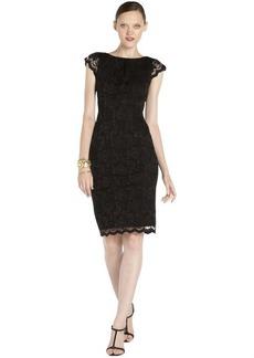 A.B.S. by Allen Schwartz black stretch lace overlay cap sleeve dress