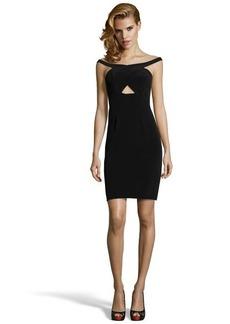 A.B.S. by Allen Schwartz black stretch off the shoulder cutout dress