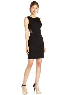 A.B.S. by Allen Schwartz black stretch woven sleeveless dress with lace insets