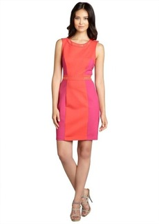 A.B.S. by Allen Schwartz coral and fuchsia ponte sleeveless seamed studded dress