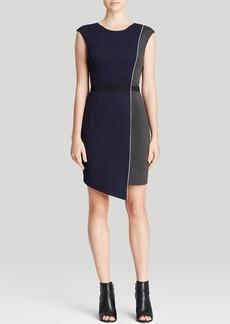 ABS by Allen Schwartz Dress - Quilted Asymmetric Skirt Sheath