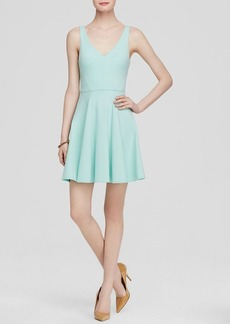 ABS by Allen Schwartz Dress - Sleeveless V-Neck Fit and Flare