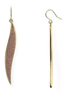 ABS by Allen Schwartz Glitter Inlay Drop Earrings
