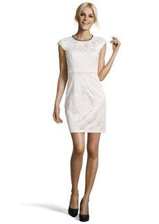 A.B.S. by Allen Schwartz ivory lace padded cap sleeve dress