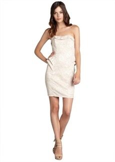 A.B.S. by Allen Schwartz ivory lace strapless party dress