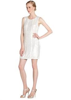 A.B.S. by Allen Schwartz ivory sequined sleeveless dress