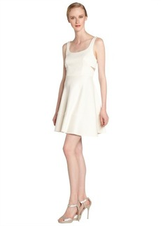A.B.S. by Allen Schwartz ivory stretch cutout detail sleeveless dress