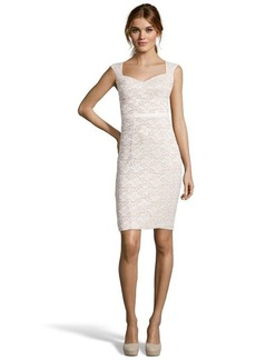 A.B.S. by Allen Schwartz ivory stretch lace fitted dress