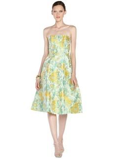 A.B.S. by Allen Schwartz mint stretch strapless floral pattern flare dress