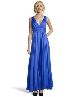 A.B.S. by Allen Schwartz ocean chiffon sleeveless empire waist gown