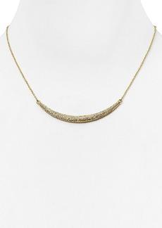 """ABS by Allen Schwartz Pave Crescent Necklace, 17"""""""