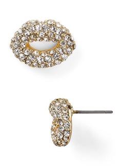 ABS by Allen Schwartz Pave Lips Stud Earrings