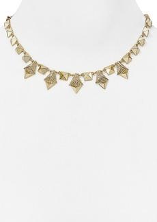 """ABS by Allen Schwartz Pyramid Collar Necklace, 16"""""""