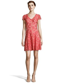 A.B.S. by Allen Schwartz tangerine stretch lace cap sleeve dress