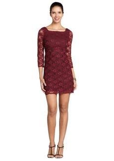 A.B.S. by Allen Schwartz wine three quarter sleeve dress