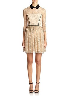 ABS Collared Lace Contrast Dress