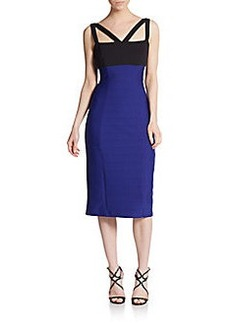ABS Colorblock Cutout Back Dress