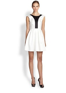 ABS Colorblock Party Dress