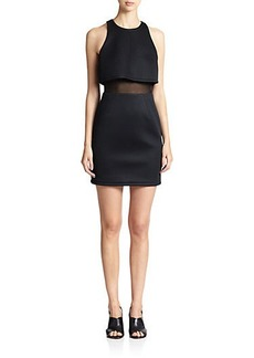 ABS Cropped Mesh Overlay Dress