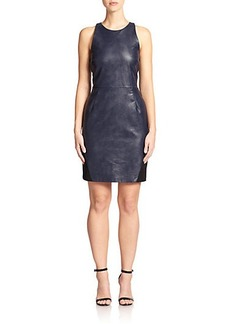 ABS Faux-Leather Cut-Out Sheath