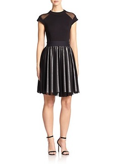 ABS Flared Combo Dress