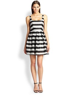 ABS Flared Stripe Dress