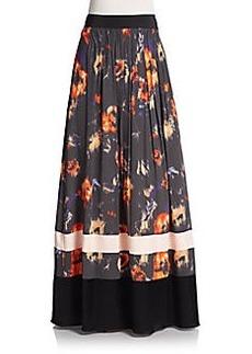 ABS Floral-Print Maxi Skirt