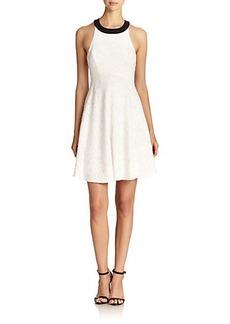 ABS Jacquard Halter Dress