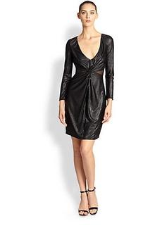 ABS Jersey Twist-Front Dress